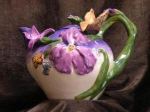 Purple Violet Teapot