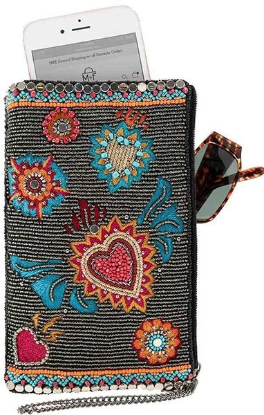 Flaming Hearts Crossbody phone bag