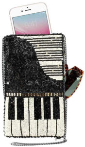 Well Played Beaded Piano Crossbody phone Bag